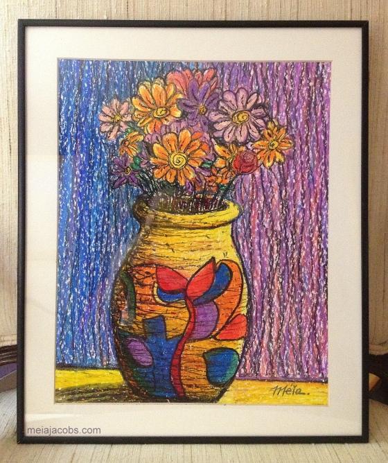 Vase in Oil Pastel, 2013
